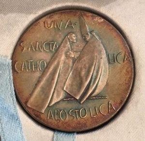 Pope John XXIII Reverse Side of Silver Medallion