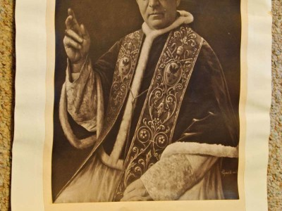 July 26, 1922: A Signed Photo of Pope Pius XI
