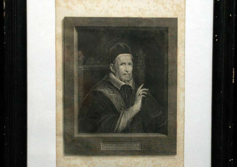 Engraving of Pope Innocent X