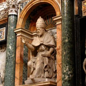 Tomb of Pope Clement VIII at the Basilica of St. Mary Major in Rome