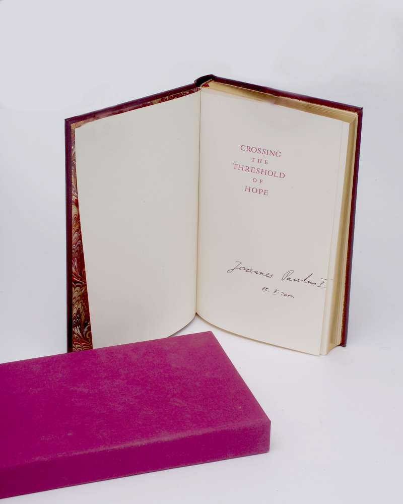 """Signed Copy of """"Crossing the Threshold of Hope"""""""