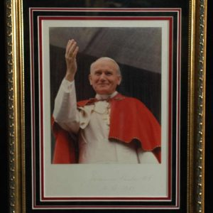 Photo With Signature of Pope John Paul II