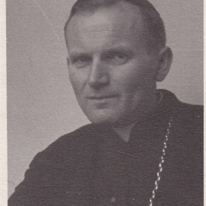 Black & White Photo of John Paul II as Bishop Karol Wojtyla