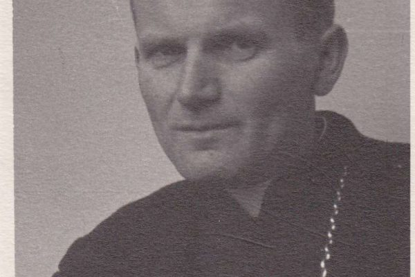 Black & White Photo of Bishop Karol Wojtyla, the Future John Paul II