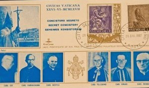 Pope John Paul II: FDC Stamps as Cardinal, Dated June 26,  1967