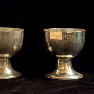 Two Small Silver Ciboria Used at a Mass Celebrated in Washington D.C. in 1979