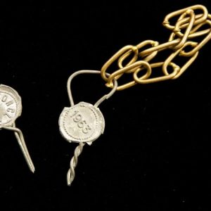 Lead Seals and Chains From the 1963 Conclave Electing Paul VI Pope
