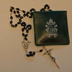 Rosary Given to Father Kunst by Pope Saint John Paul II in 2004