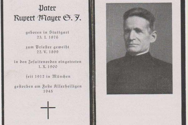 Blessed Rupert Mayer Funerary Card