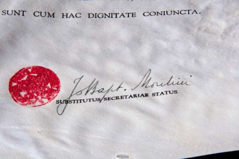 Papal Honor Signed as Giovanni Montini