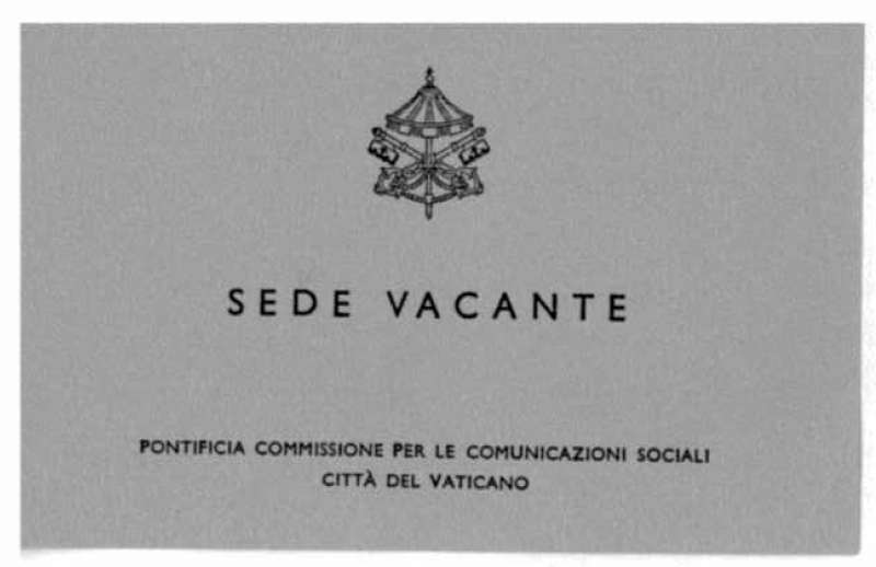 Press Pass Issued During the Sede Vacante Period in 1978 (back)