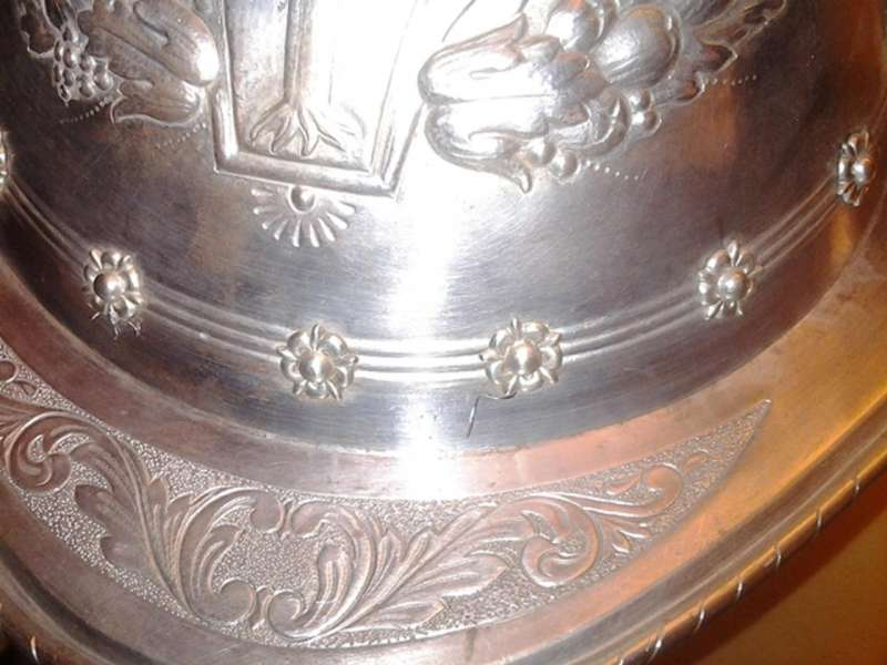 Embossing on Morion Helmet