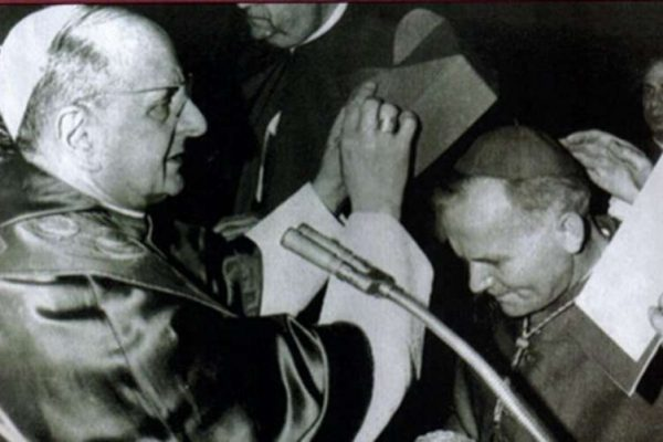 Karol Wojtyla Receiving the Red Hat from Pope Paul VI