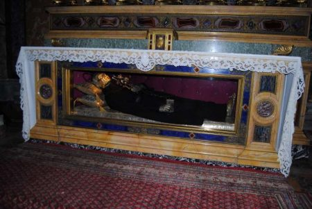 Tomb of St. Paul of the Cross in the Church of Sts. Peter & Paul in Rome