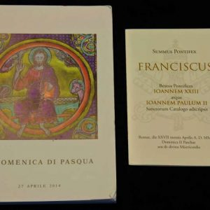 Mass Booklet & Holy Card from the Canonizations of Saint John Paul II & Saint John XXIII, April 27, 2014