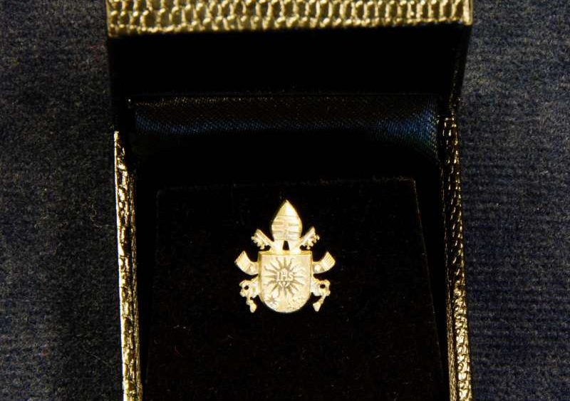 Lapel Pin with the Coat of Arms of Pope Francis