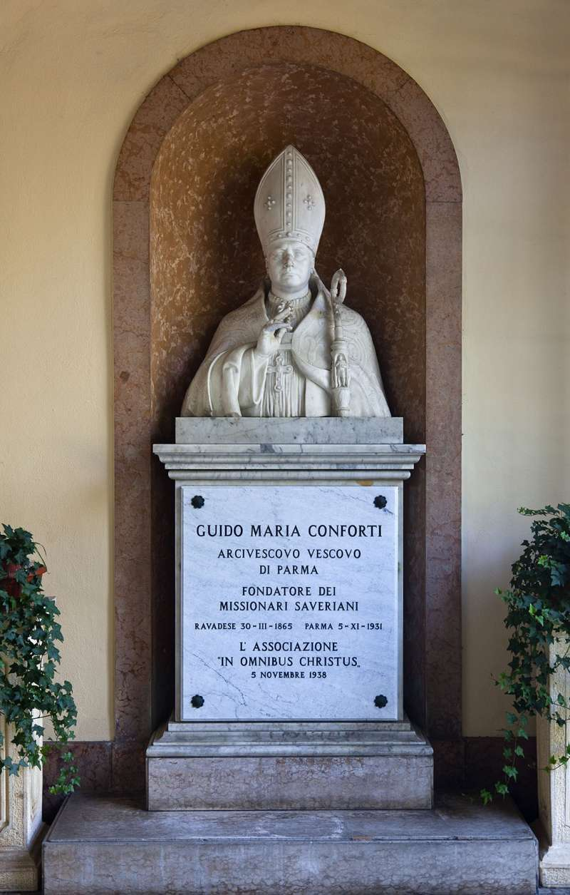 Bust of Saint Guido Conforti at Mother House in Parma, Italy