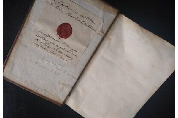 A Book Belonging to the Cure of Ars with Seal Attesting to Its Authenticity