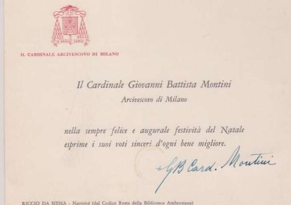 Calling Card Signed by Pope Paul VI as  Cardinal