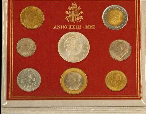 Saint John Paul II & 20th Century Popes: Coin Set With their Images