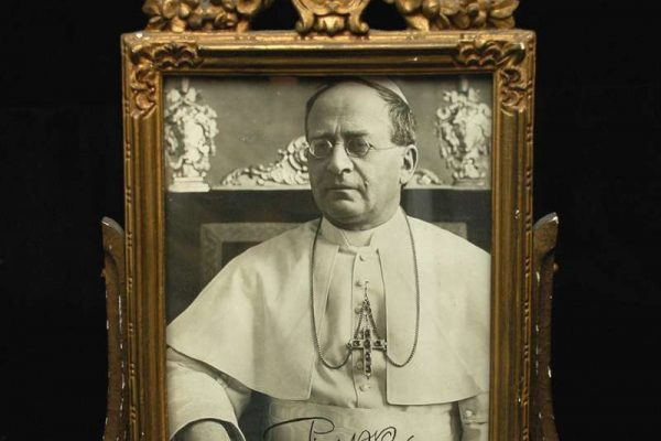 Autographed Photo From 1927 of Pope Pius XI
