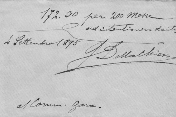 Small Card Signed by Pope Benedict XV as Giacomo della Chiesa