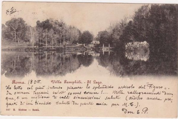 Postcard Sent to Ernesto Pacelli, Relative of Venerable Pius XII