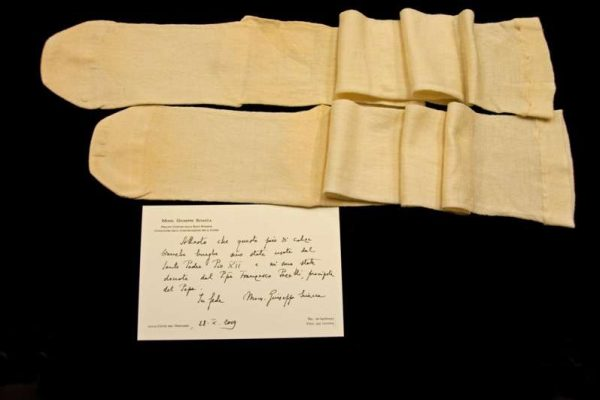 Pair of Stockings Belonging to Pope Pius XII