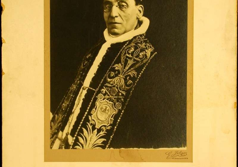 Large Photo Blessing from Pope Benedict XV
