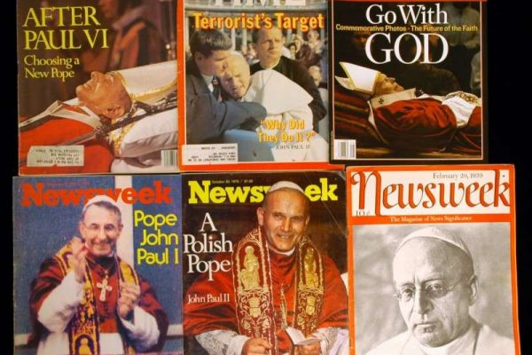 Time and Newsweek Magazine Covers of Popes