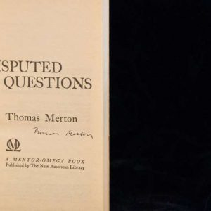 Autographed Copy of the Paperback Book Disputed Questions, Published 1960