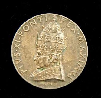 Commemorative Medal From the Pontificate of Pius XI