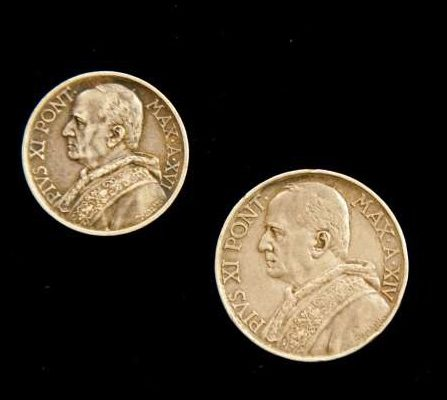 Two Coins From The Pontificate of Pius XI