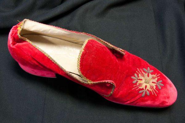 Red Velvet Slipper of Pius XII