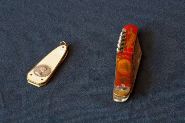 Two Pocket Knives with Images of Bl. Paul VI & St. Pius X