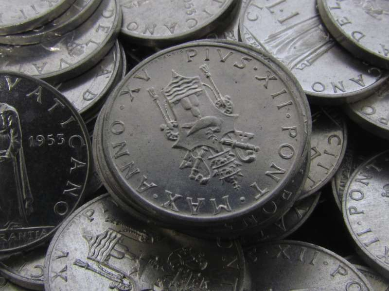 1953 Uncirculated Lira Coins