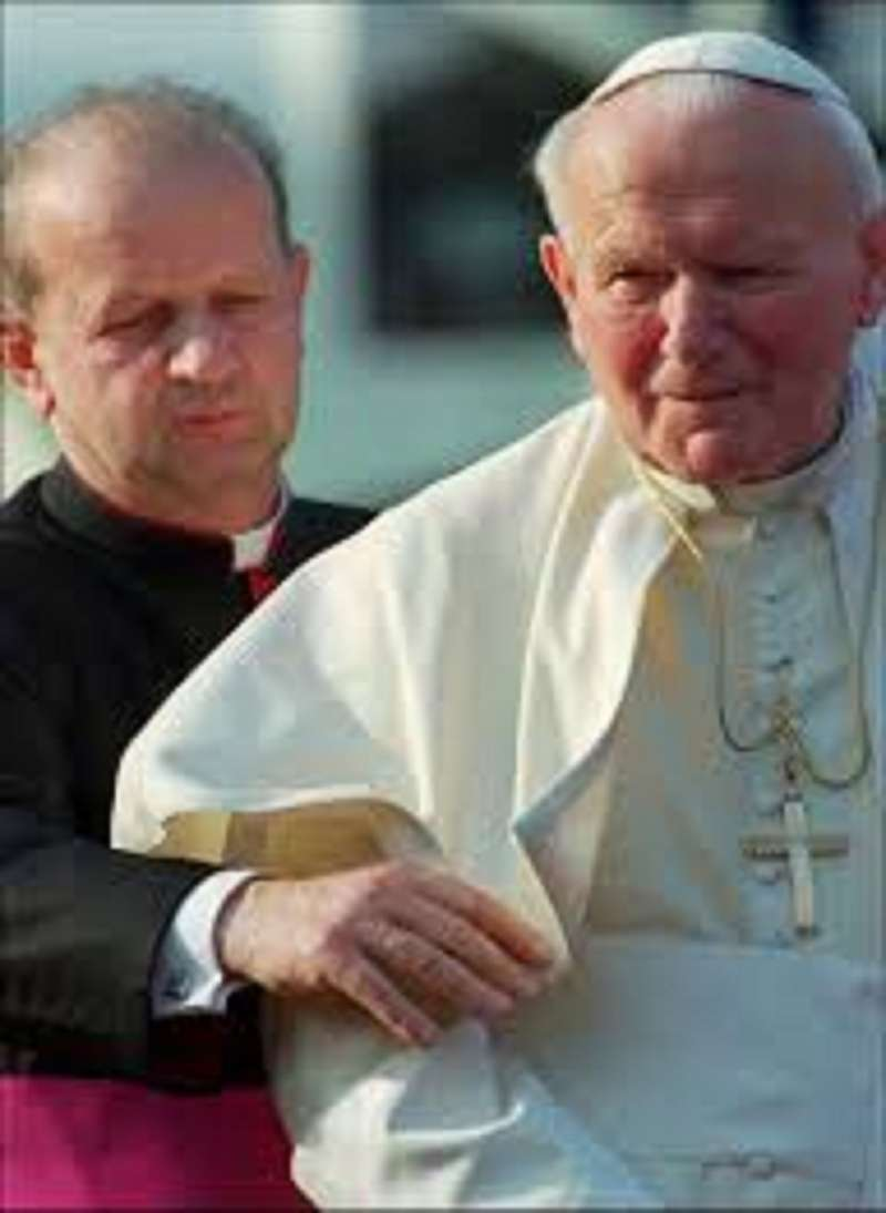Pope John Paul II & His Secretary, Stanislaw Dziwisz