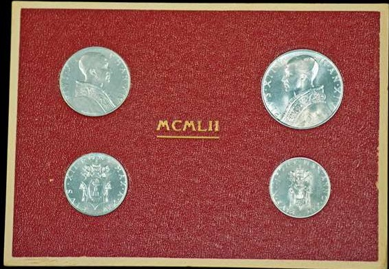 Coin Set From 1942: Pope Pius XII