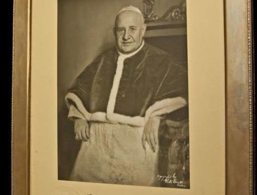 Autographed Photo of Saint John XXIII in a Silver Presentation Frame