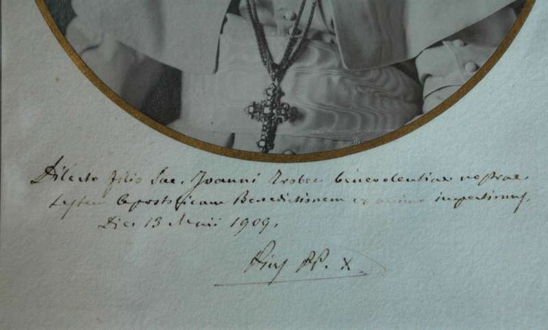 Blessing Signed For the Anniversary of Father John Trobec (signature)