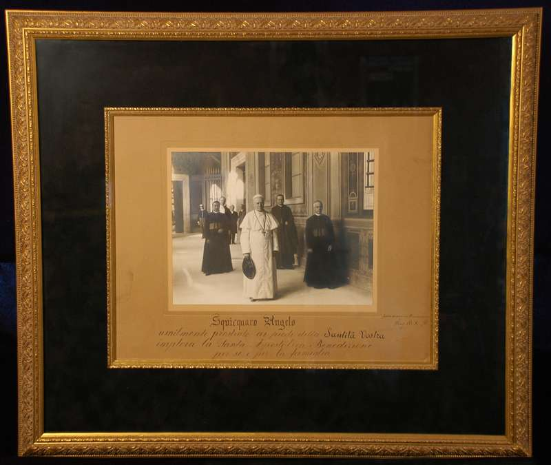 Autographed Photo of Pope St. Pius X with a Blessing