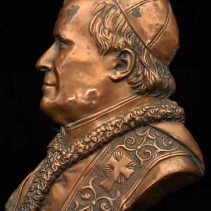 Flat Copper Profile of Blessed Pius IX