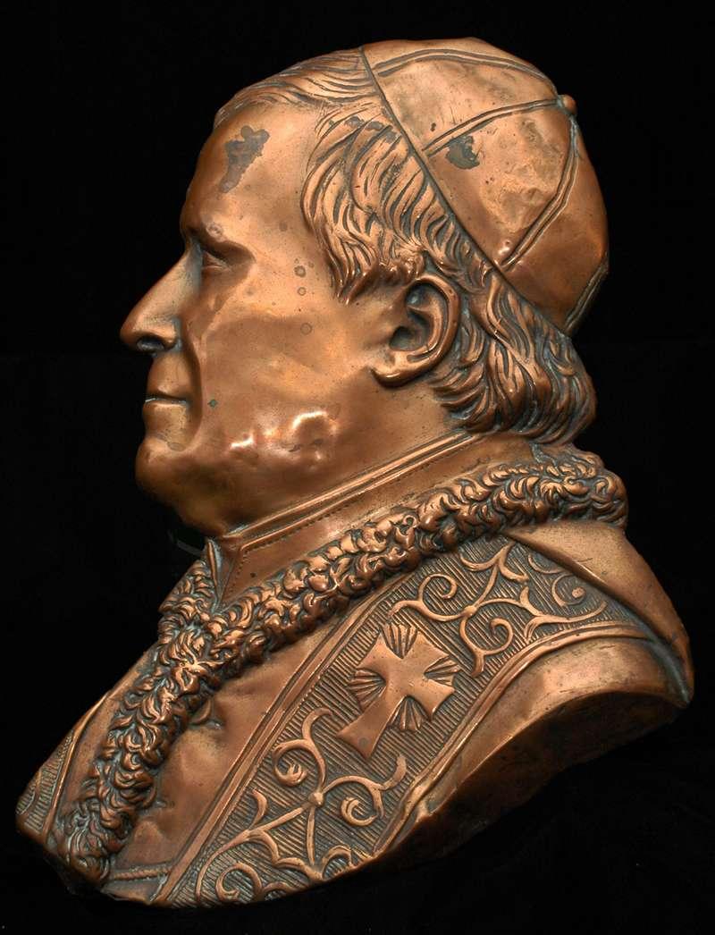 Flat Copper Profile of Blessed Pius IX