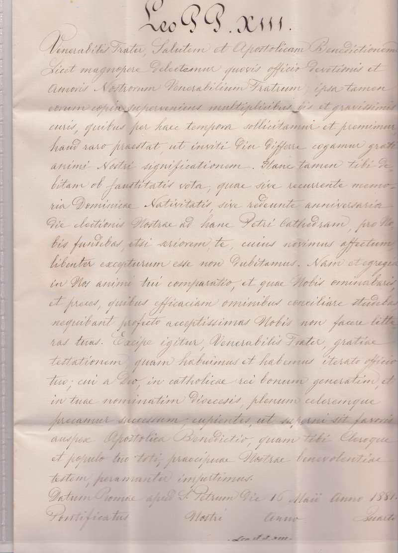 Untranslated Formal Document With Wax Seal, Dated May 16, 1881