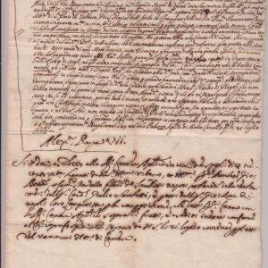 Letter Containing Pope Alexander VII's Signature