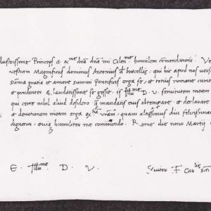 Letter Written in Rome, Dated 1471