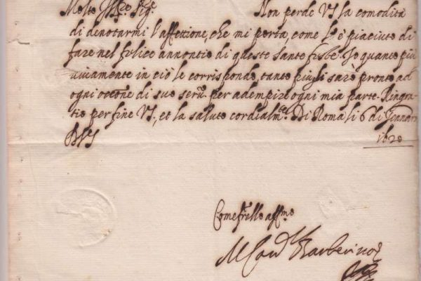 Letter Signed by Pope Urban VIII  as Cardinal Maffeo Barberini, Dated 1620