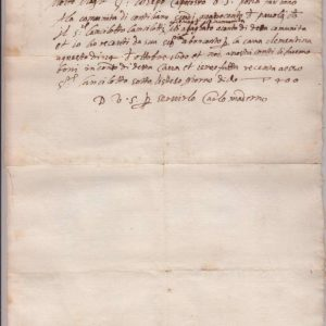 Undated Letter From Carlo Maderno