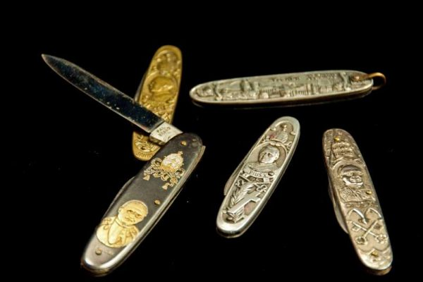 Five Pocket Knives From Various Papacies in Early 20th Century