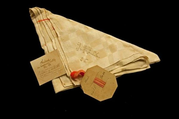 Folded Amice With Blessed Pius IX's Initials